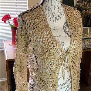 crochet natural sweater